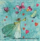 Paquete de servilletas ninfa de las rosas - Paquete de servilletas decorativas, Mariposas y princesas