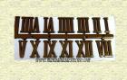 N�meros romanos reloj 1.5cm -