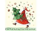 Paquete de servilletas Papa noel - Paquete de servilletas decorativas, Papa Noel