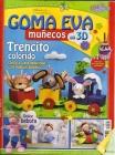 Revista mu�ecos 3D, Trenecito - Revista de mu�ecas con goma eva.