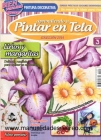 Revista Aprendiendo a pintura sobre tela, lirios - Revista de pintar tela con patrones