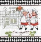 Paquete de servilletas, Bon appetit - Paquete de servilletas decorativo, Cheff