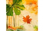 Paquete de servilletas Carta de oto�o - Paquete de servilletas decorativas, oto�o