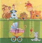 Paquete de servilletas Animalitos - Paquete de servilletas decorativas, Infantil