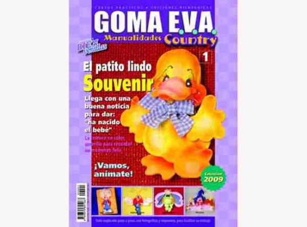Revista de muñecos country con goma eva