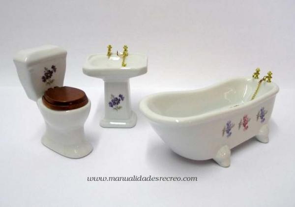 Puertas De Fuelle Para Baño:Piezas de baño en miniatura