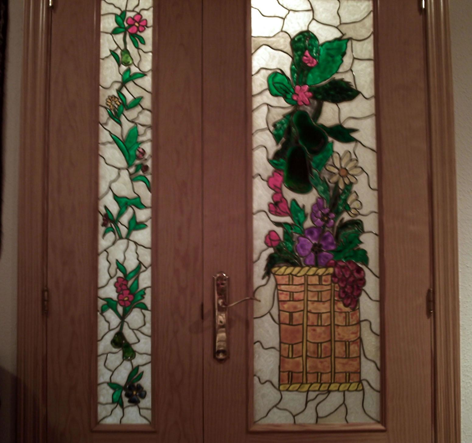 Trabajos de manualidades realizados en las clases de - Vidrieras para puertas ...
