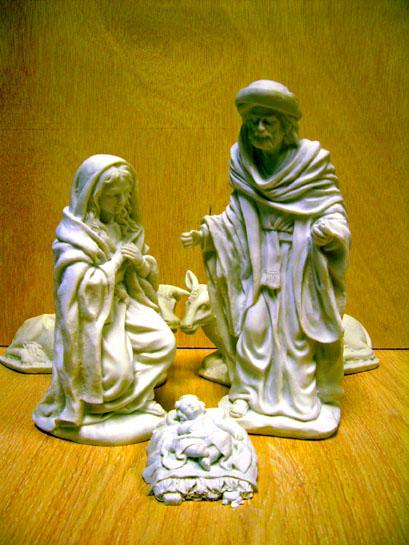 Figuras de nacimientos y belenes para decorar y pintar - Belenes de navidad manualidades ...