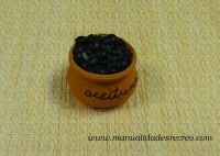 Aceitunas negras - Cuenco de aceitunas verdes