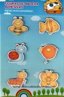 Figura de madera adhesiva, Animalitos - Pegatinas de madera, animalitos