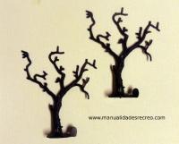 Arboles en rama - Juego de dos arboles en ramas