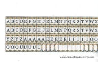 Azulejos con letras para fachadas