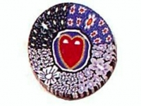 Barra millefiori corazón-flores -