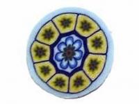 Barra millefiori flor azul -