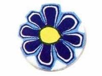 Barra millefiori margarita azul