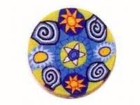 Barra millefiori sol-espiral -