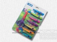 Juego de ocho tijeras con formas - Blister de tijeras con formas, ocho cuchillas intercambiables