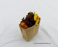 Bolsa de frutas, uva roja - Bolsa de frutas artesana