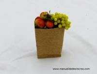 Bolsa de fruta, uvas verdes - Bolsa en miniatura con fruta