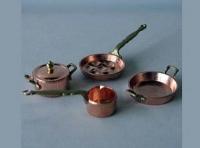 Cacharros de cocina en cobre