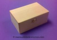 Caja madera canto redondo - Caja de madera rectangular para decorar