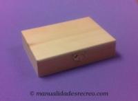 Cajita plana - Cajita de madera plana para decorar