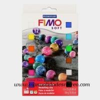 Pasta Fimo 12 colores - Caja surtida de 12 colores de fimo, pastillas de 25g