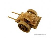 Carreta - Carreta de madera en miniatura