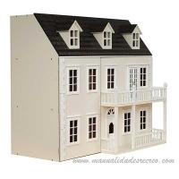 Casa de muñecas  - Casita de muñecas en color blanco