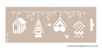 Plantilla starcir, Casitas 25cm x 10cm - Plantilla starcido tamaño 25cm x 10cm