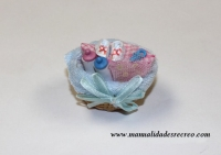 Cestita para bebé - Cesta de bebé en miniatura