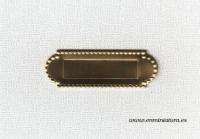 Buzún dorado para puertas en miniatura - Buzón para decorar puertas del ratoncito Pérez