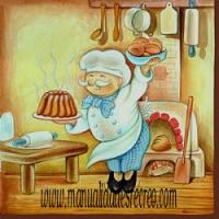 Paquete de servilletas, cocinero