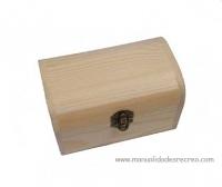 cofre de madera natural 15,5cm x 10,5cm - Caja de madera natural