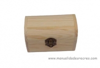 Cofre de madera 12,5cm x 8cm - Caja de madera natural