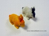 Conejitos en miniatura - Juego dos conejos en miniatura