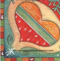 Paquete de servilletas Corazón - Paquete de servilletas decorativas, Corazón de colores