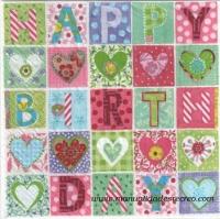 Paquete de servilletas Cuadros letras - Paquete de servilletas decorativas,