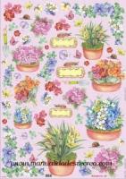 Papel Decoupage Plantas