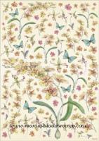 Papel Decoupage Flores y Mariposas - Papel de decoupage con florecillas