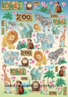 Papel Decoupage Zoo - Papel de decoupage con motivos de animalitos