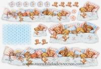 Papel de arroz osos dormilones - Ositos dormilones