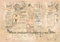 Papel arroz Prensa, DFS157 - papel de arroz, papel de periodico