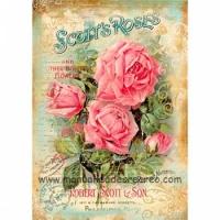 papel arroz dfsa4097 Rosas Pajaritos - Papel arroz DFSA9047