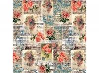 Papel arroz Dft194 Rosas y música -