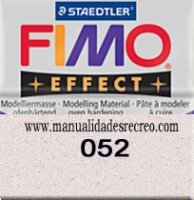 Fimo Blanco glitter 052 - Pasta fimo effect, Blanco Glitter, arcilla polimérica de endurecido en horno casero.