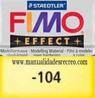 Fimo amarillo translucido 104 - Pasta fimo effect, Amarillo translucido, arcilla polimérica de endurecido en horno casero.