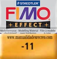 Fimo oro 11 - Pasta fimo effect, Dorado, arcilla polimérica de endurecido en horno casero.