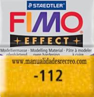 Fimo brillantina dorada 112 - Pasta fimo effect, Dorado brillantina, arcilla polimérica de endurecido en horno casero.