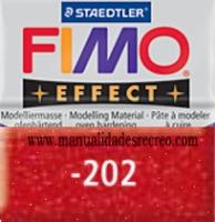 Fimo rojo glitter 202 - Pasta fimo effect, Rojo brillantina, arcilla polimérica de endurecido en horno casero.